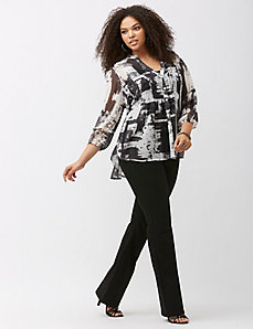 Pintuck blouse by Melissa McCarthy Seven7