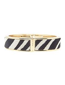 Zebra hinge bracelet