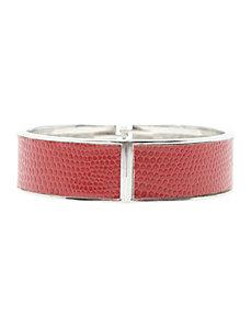 Embossed hinge bracelet