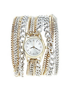 Multi-chain wrap watch