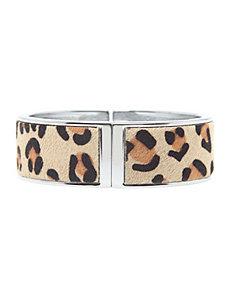 Leopard hinge bracelet