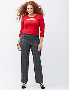 Sophie Tailored Stretch plaid trouser