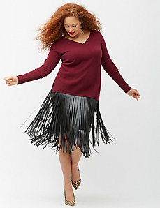 6th & Lane fringe skirt