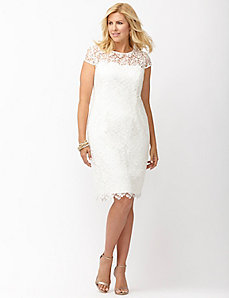 Cap sleeve lace dress by Adrianna Papell