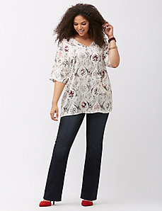Embellished boot jean by Melissa McCarthy by Seven