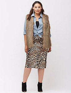 Coyote faux fur vest
