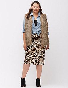Coyote faux fur vest