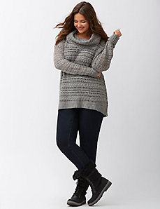 Yarn mix cowl sweater by DKNY JEANS