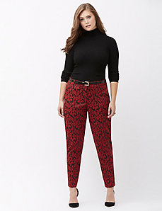 Lena animal jacquard ankle pant