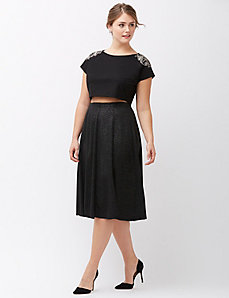 Glimmer skater skirt by Lela Rose