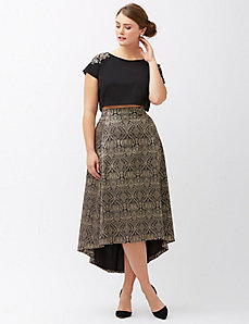 Jacquard midi skirt by Lela Rose