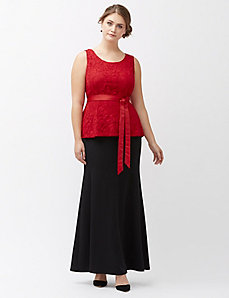 Trumpet maxi skirt by Lela Rose