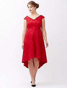 Lily lace fit & flare dress by Lela Rose