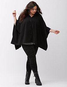 Fleece lined poncho
