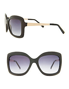 Square sunglasses with metal arms