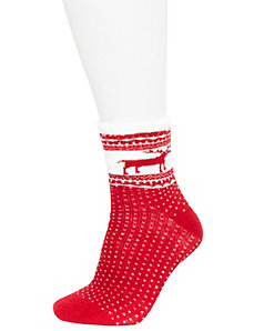 Reindeer cozy socks