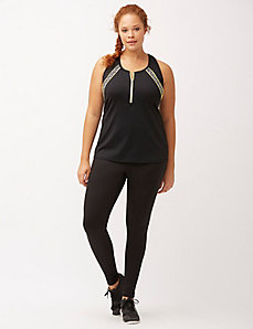 TruDry wicking zip front tank