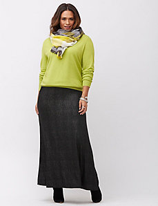 Foiled maxi skirt