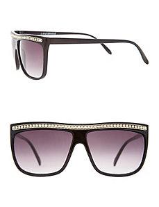 Rhinestone squared brow sunglasses