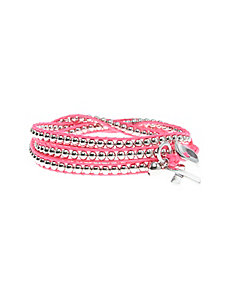 Combat Cancer pink ribbon wrap bracelet