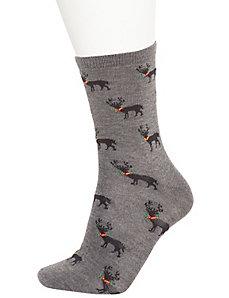 Reindeer crew socks 2-pack