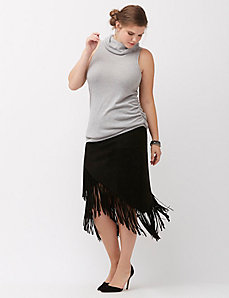 6th & Lane suede fringe skirt