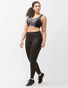 Metallic wicking active legging