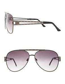 Hematite aviator sunglasses
