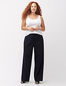 Lena Tailored Stretch pinstripe wide leg pant