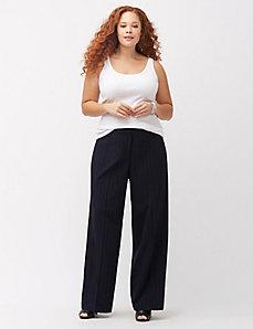 Lena Tailored Stretch pinstripe wide leg pant