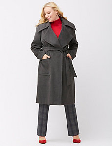 Military wrap coat