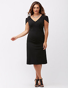 Triangle sleeve midi dress by ABS Allen Schwartz