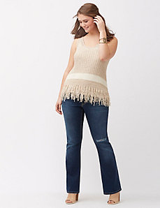 Fringed sleeveless sweater