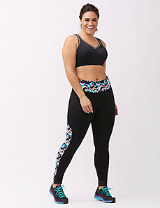 TruDry Antimicrobial print spliced active legging
