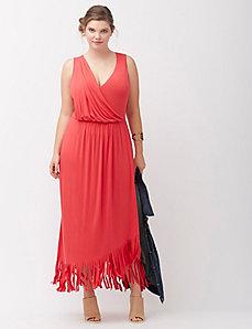 Fringe maxi dress
