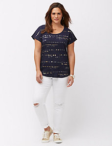 Foiled dot graphic tee