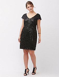 Sequin lace shift dress by Adrianna Papell