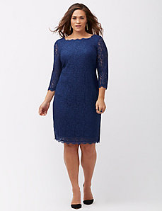 3/4 sleeve lace dress by Adrianna Papell