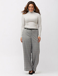 Lena metallic plaid wide leg pant
