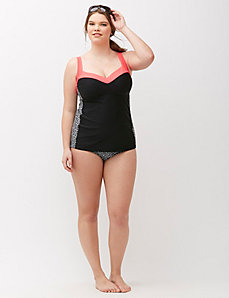 Sun Protection Swim Tank with Built-In Balconette Bra