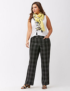 Lena grid patterned trouser