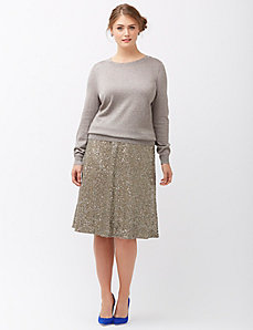 Lurex crew neck sweater by Lela Rose