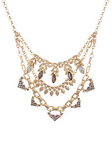 Layered art deco necklace