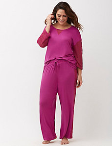 Sleep Pant with Lace Insets