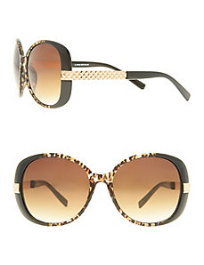 Ombre animal sunglasses with hardware