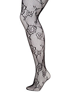 Floral Lace Fishnet Tights