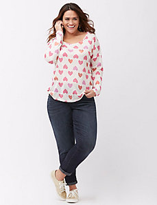 Heart patterned tee