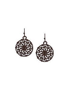 Filigree flower drop earrings