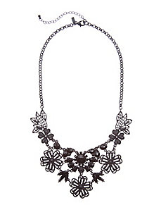 Matte filigree flower necklace