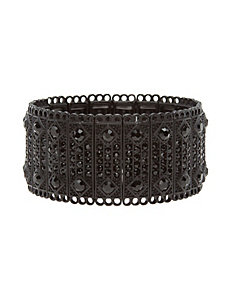 Studded bar stretch bracelet
